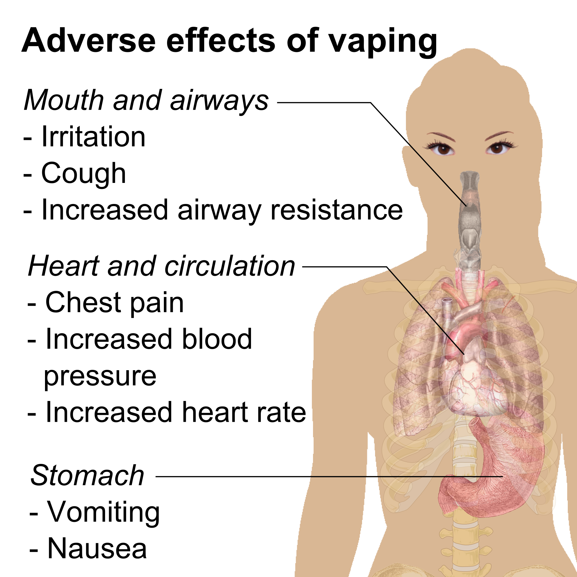 a description of the different harmful effects that your body can get from smoking Home why quit  damaging your body  smoking and tar  'mild' and 'special  mild' on the packaging of cigarettes which have been tested  many people  assume that 'light' cigarettes are not as harmful  damage to your lungs caused  by smoking can lead to other complications such as emphysema.